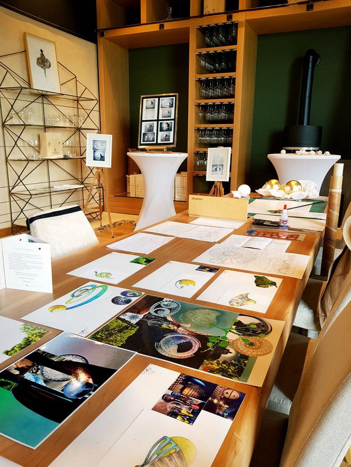 Suspensions fantastiques Domaine vitivole Brocard, Creation et réalisations Hervé Arnoul. Atelier Domaine.