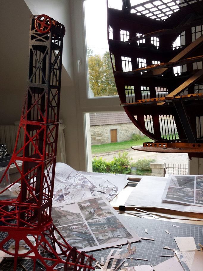 Galeries lafayette Fantastiques 2.013 making of. Création Hervé Arnoul.