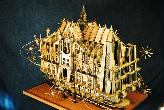 Paris vue d'ailleurs,les Artistes de la Mairie de Paris, Hervé Arnoul 1er Prix Arts Appliqués. Eglise Saint Eustache.
