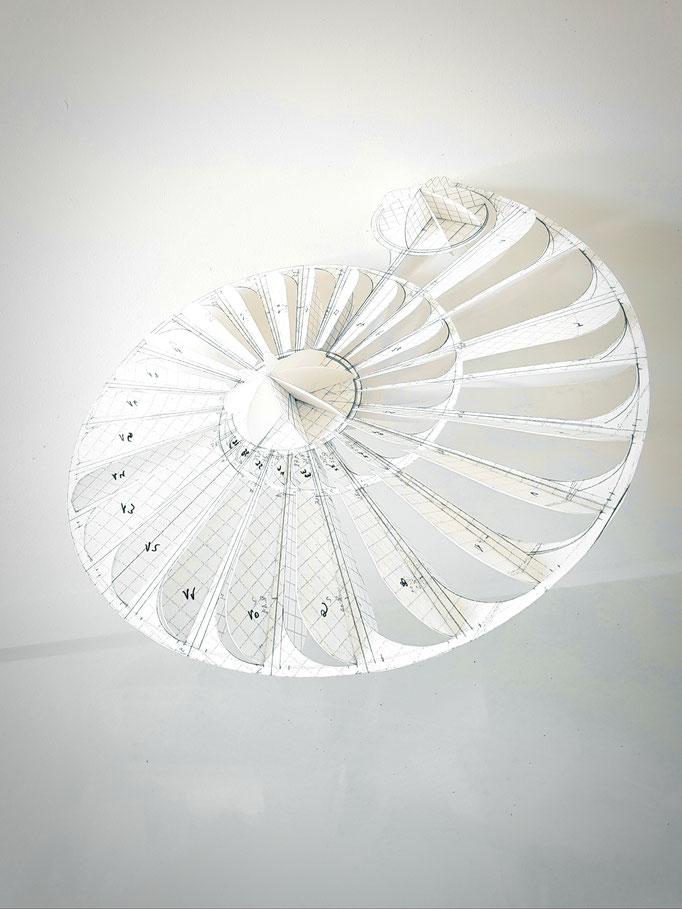 Suspensions fantastique Domaine Jean Marc Brocard création et realisation Hervé Arnoul. Making of  ammonite.