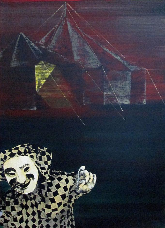 Larissas Traum, 1996, Acrylic on Canvas, 170 x 120 cm