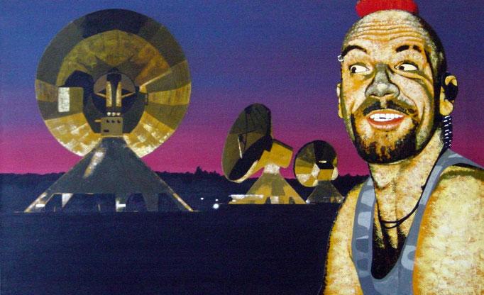 der Empfänger, 1998, Acrylic on Canvas, 50 x 80 cm