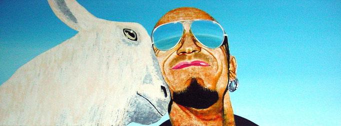 it`snotunusual I, 2000, Acrylic on Canvas, 30 x 80 cm
