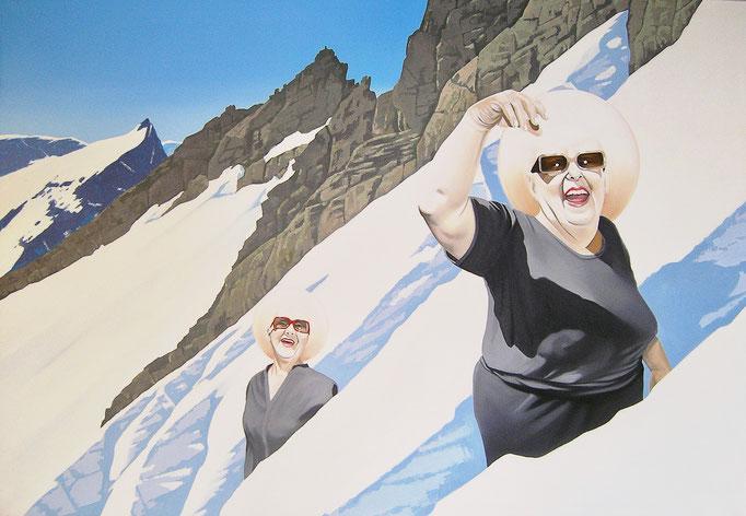 Berggöttinnen, 2010, Oil on Canvas, 110 x 160 cm