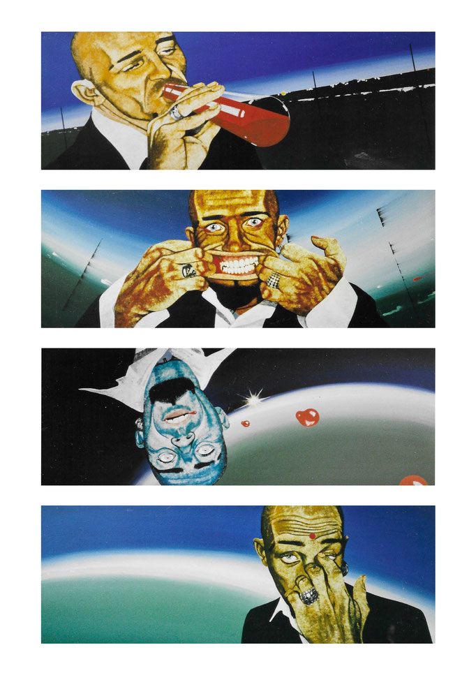 Der Inhalt, 1999, Acryl auf Leinwand, a 30 x 80 cm