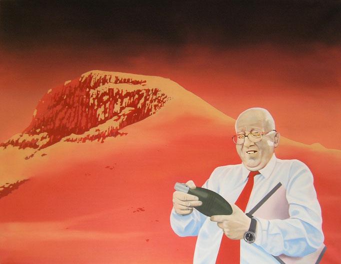 der Kontrolleur, 2011, Oil on Canvas, 100 x 130 cm