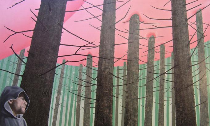 Absorbation, 2012, Oil on Canvas, 100 x 170 cm