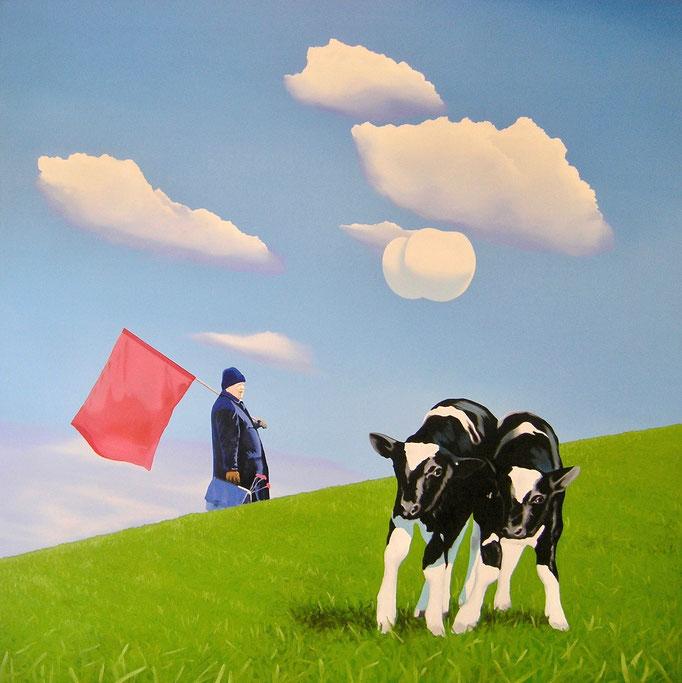 die Tücke der Verständigung I, 2006, Oil on Canvas, 140 x 140 cm