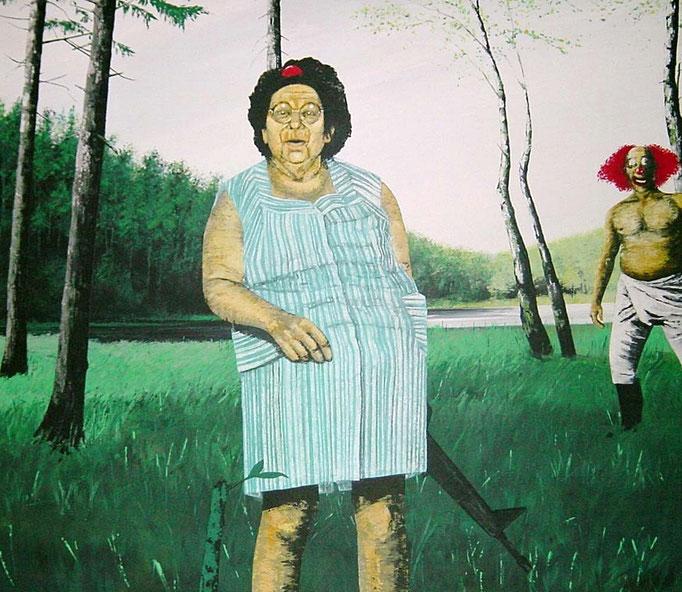 Faxen im Heidegrund, 1997, Acrylic on Canvas, 140 x 160 cm