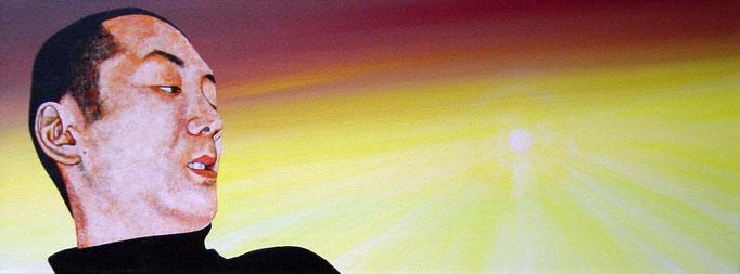 das Licht der Sonne, 2000, Acrylic on Canvas, 30 x 80 cm
