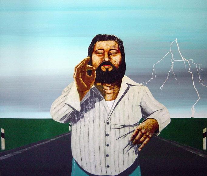der Naturfreund, 1997, Acrylic on Canvas, 120 x 140 cm