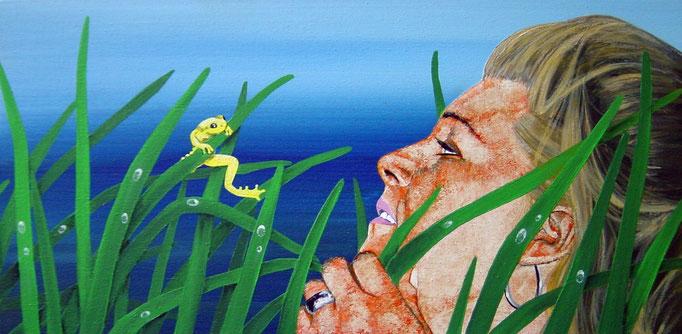 Naturbegabung I, Acrylic on Canvas, 30 x 60 cm