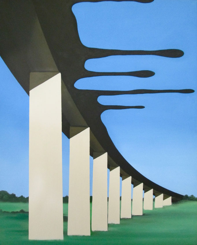 Brücke, 2017, Oil on Canvas, 50 x 40 cm
