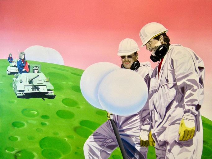 Kontakt, 2010, Oil on Canvas, 120 x 160 cm