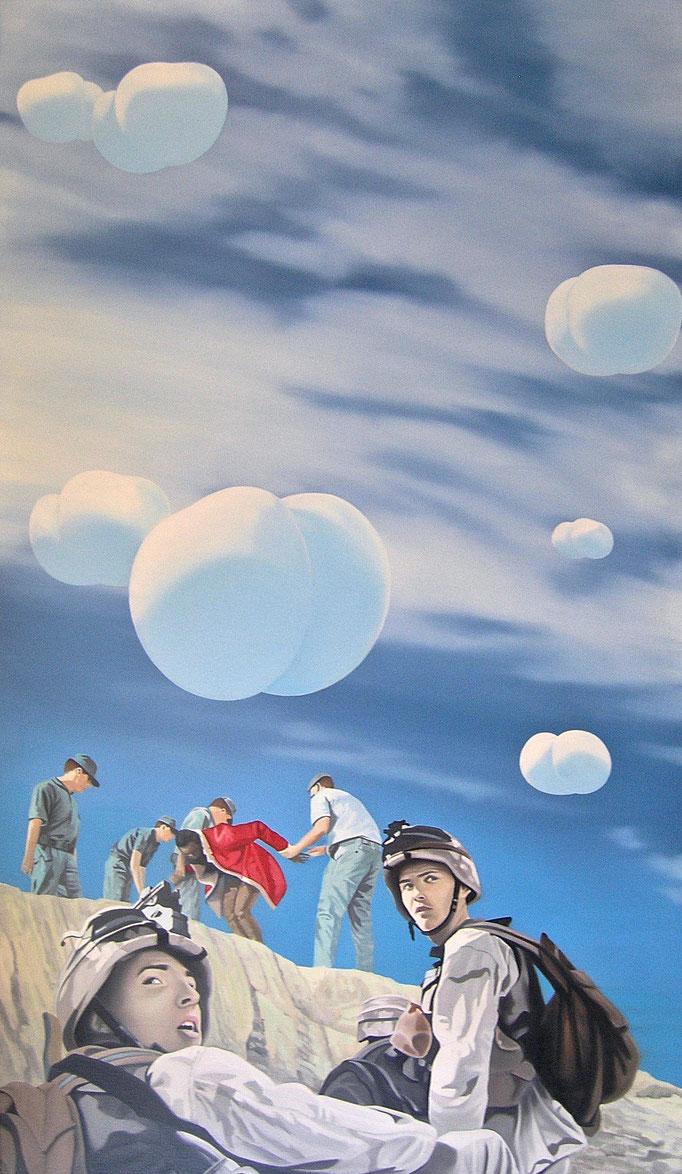 der Einsatz, 2007, Oil on Canvas, 160 x 90 cm