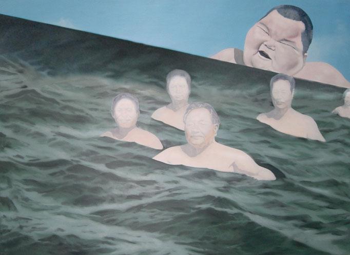 die Welle, 2011, Oil on Canvas, 145 x 200 cm