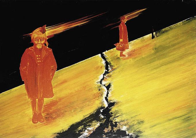 Riß, 1993, Acrylic on Canvas, 120 x 170 cm