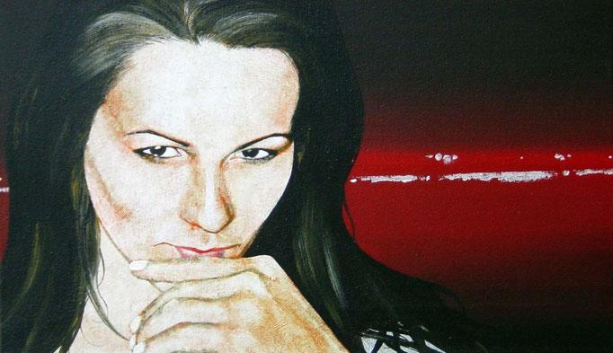 eine Abendstimmung, 2000, Acrylic on Canvas, 30 x 50 cm