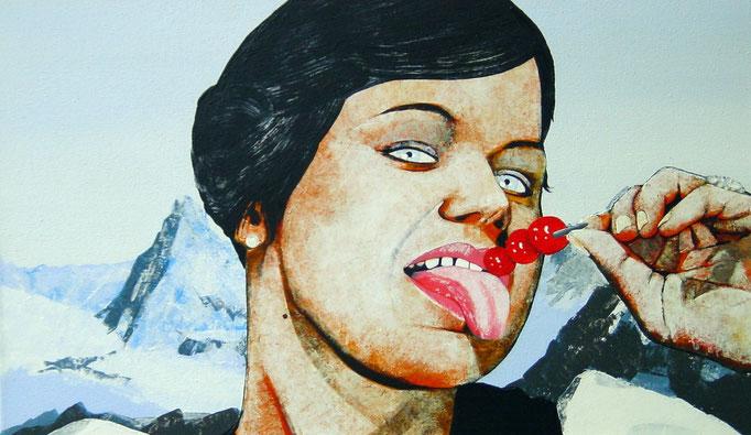 die Spitze, 1999, Acrylic on Canvas, 30 x 50 cm