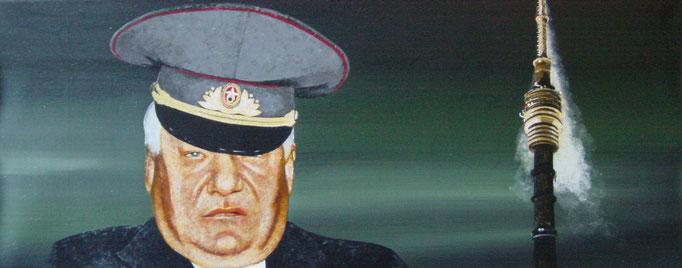 Beziehungen II, 2000, Acrylic on Canvas, 40 x 100 cm
