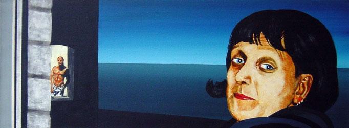 die Aussicht, 1999, Acrylic on Canvas, 30 x 80 cm