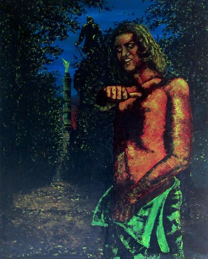 der Mann vom Tiergarten, 1996, Acrylic on Canvas, 150 x 120 cm