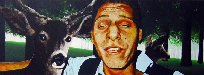 it`snotunusual III, 2000, Acrylic on Canvas, 30 x 80 cm