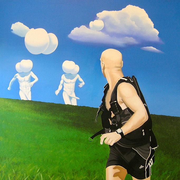 die Tücke der Verständigung III, 2006, Oil on Canvas, 140 x 140 cm