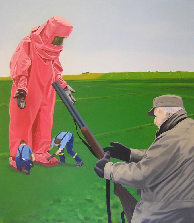 reine Schutzbehaptung, 2010, Oil on Canvas, 140 x 120 cm