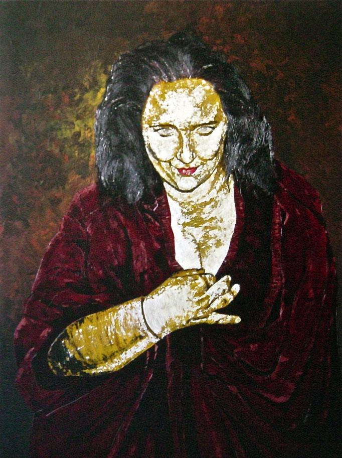 Die Schlafwandlerin, 1996, Acrylic on Canvas, 140 x 105 cm