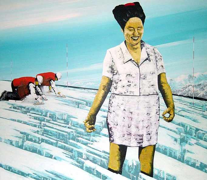 Gletscherdrama, 1997, Acrylic on Canvas, 140 x 160 cm