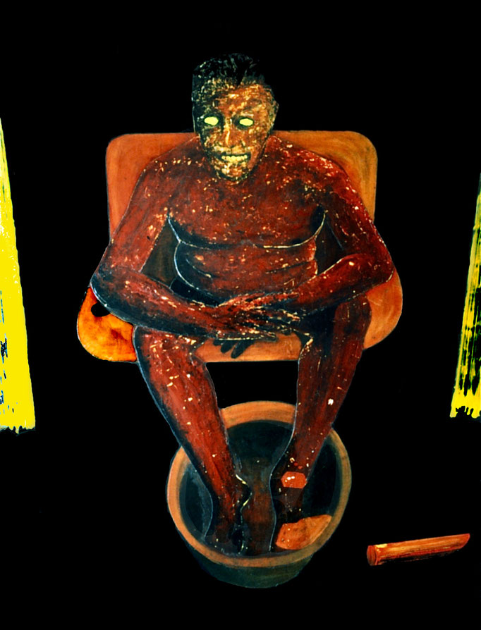 Ein Teufelskerl, 1994, acrylic on Canvas, 150 x 130 cm
