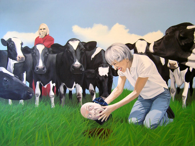the only solution, 2010, Oil on Canvas, 120 x 160 cm