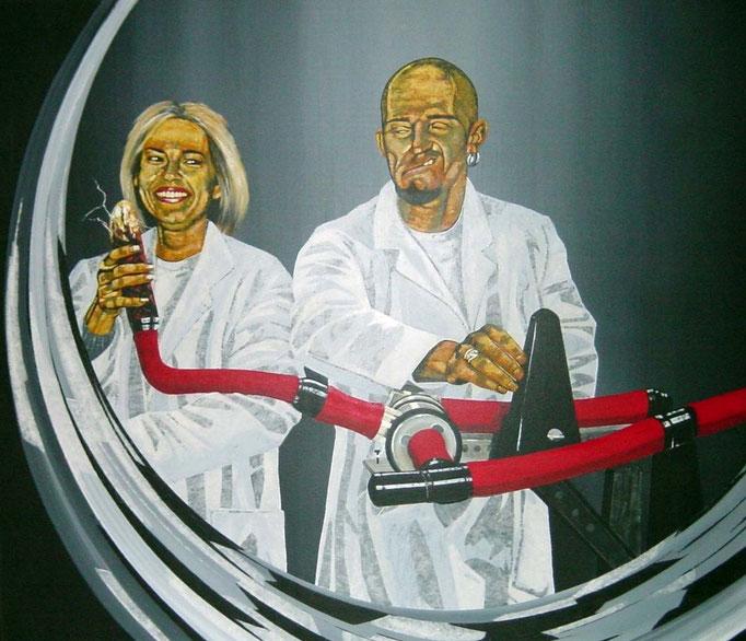 eine andere Bewegung, 1997, Acrylic on Canvas, 130 x 150 cm