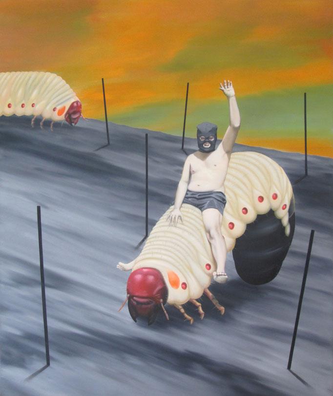 Wegweisend, 2017, Oil on Canvas, 120 x 100 cm