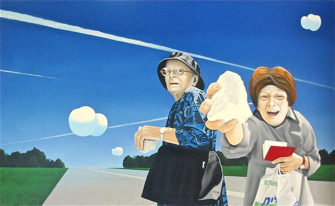 so steht`s geschrieben, 2006, Oil on Canvas, 100 x 160 cm