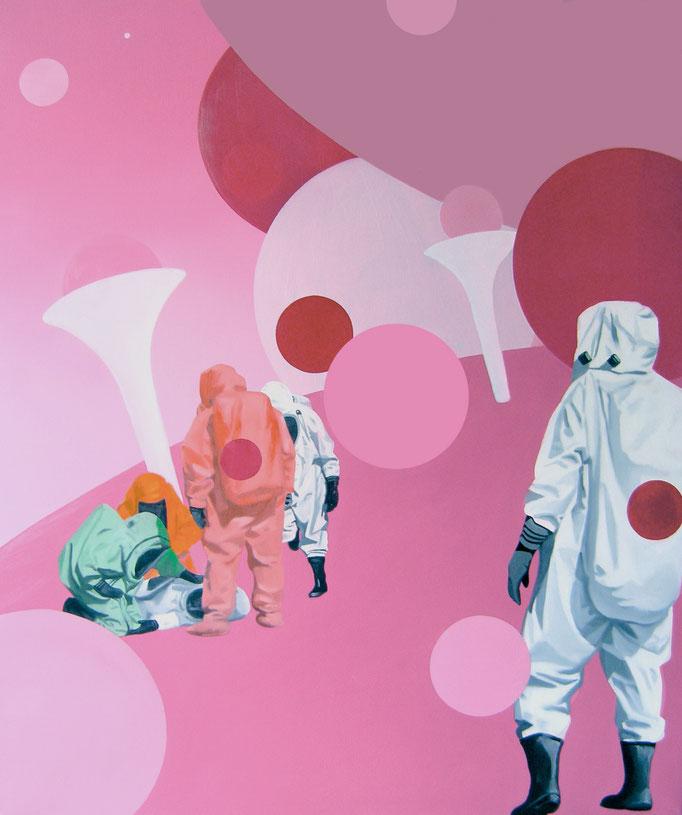 Entwicklungshelfer, 2013, Oil on Canvas, 120 x 100 cm