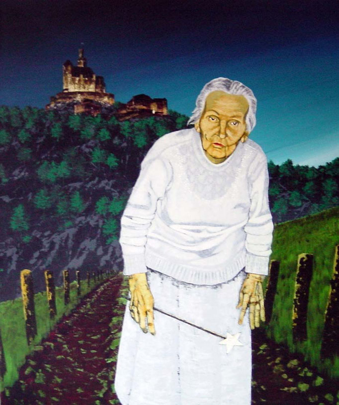 die gute Fee, 1997, Acrylic on Canvas, 140 x 120 cm