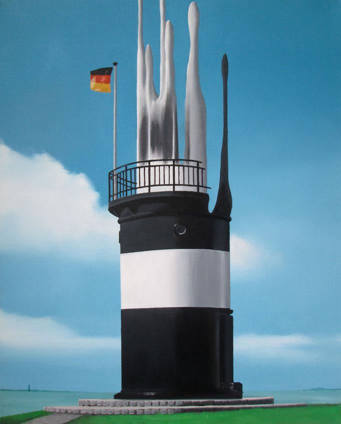 Leuchtturm, 2017, Oil on Canvas, 50 x 40 cm