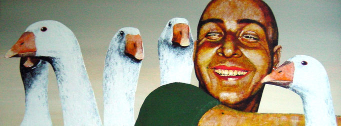 it`snotunusual II, 2000, Acrylic on Canvas, 30 x 80 cm