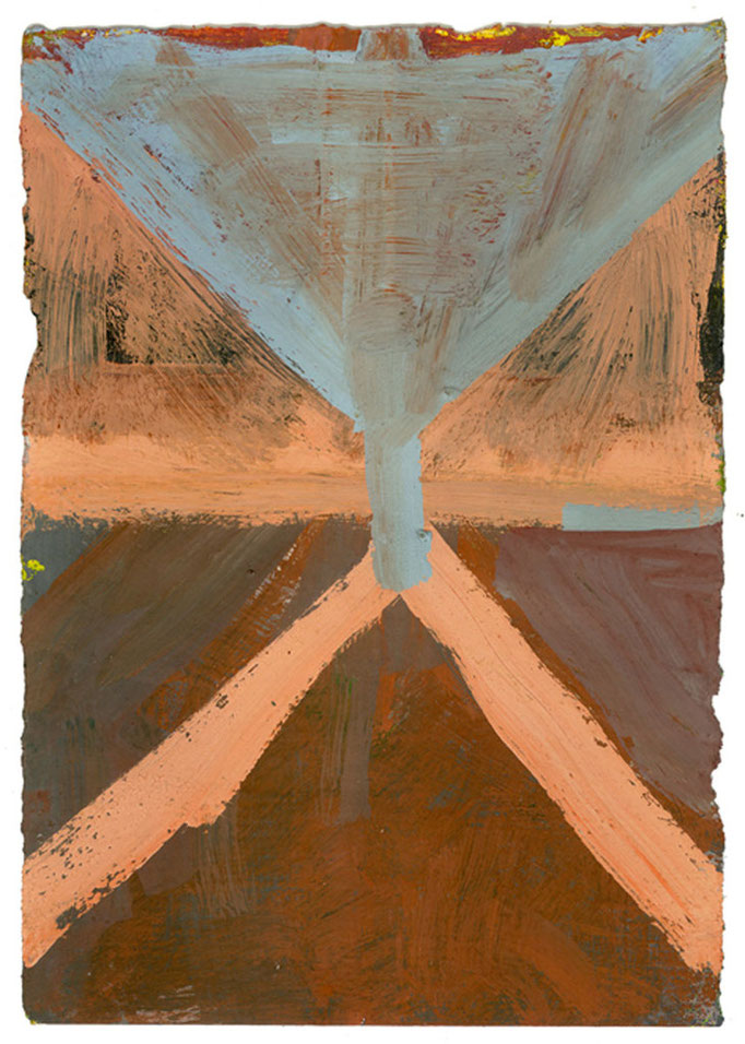 Painting #114, 2006; gouache on paper, 17.5x12.5cm