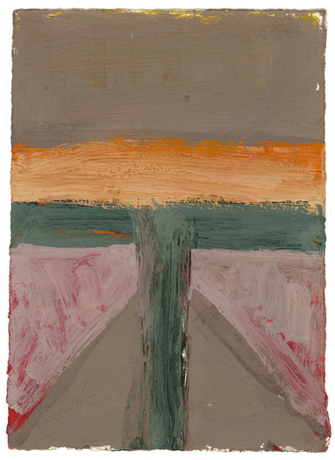 Painting #87, 2006; gouache on paper, 17.5x12.5cm