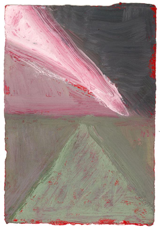Painting #104, 2006; gouache on paper, 17.5x12.5cm