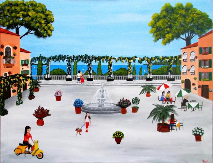 Sommer in Italien, 60 x 80cm, Patricia Leuschen