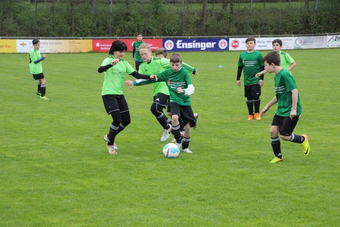 Die Fussballjugend der SG Eintracht Sirnau