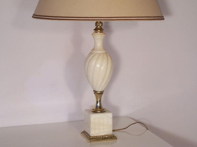 Lampe ancienne à poser, marbre et laiton