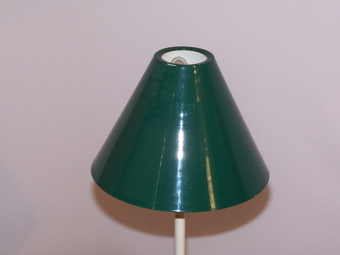 Lampe vintage verte métal