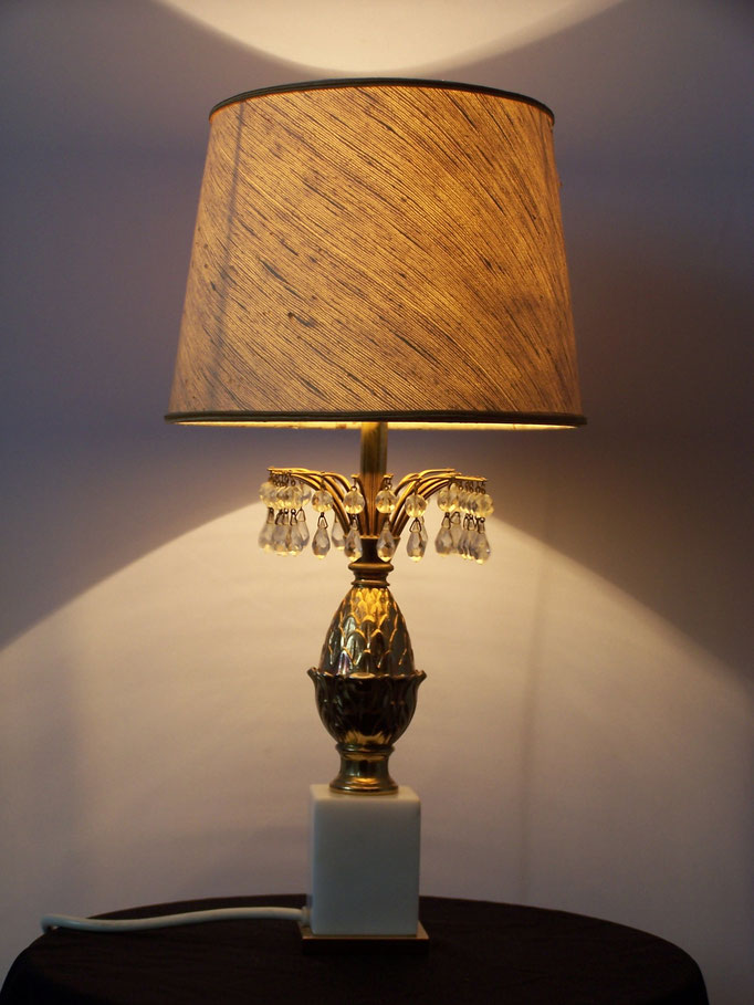 Lampe vintage ananas laiton