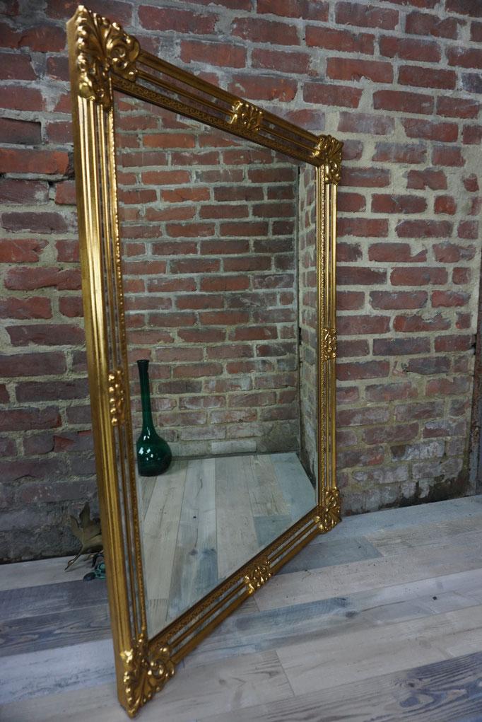 Grand miroir à pare-closes Deknudt de haute facture