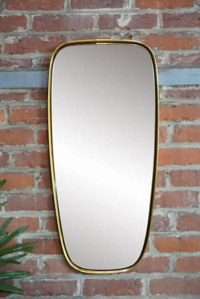 Grand miroir retroviseur laiton liseret noir majdeltier for Miroir laiton